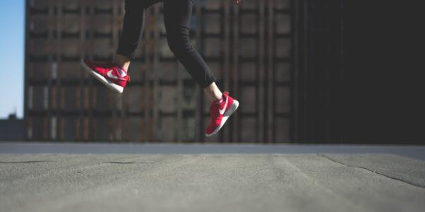 buty pięty skok