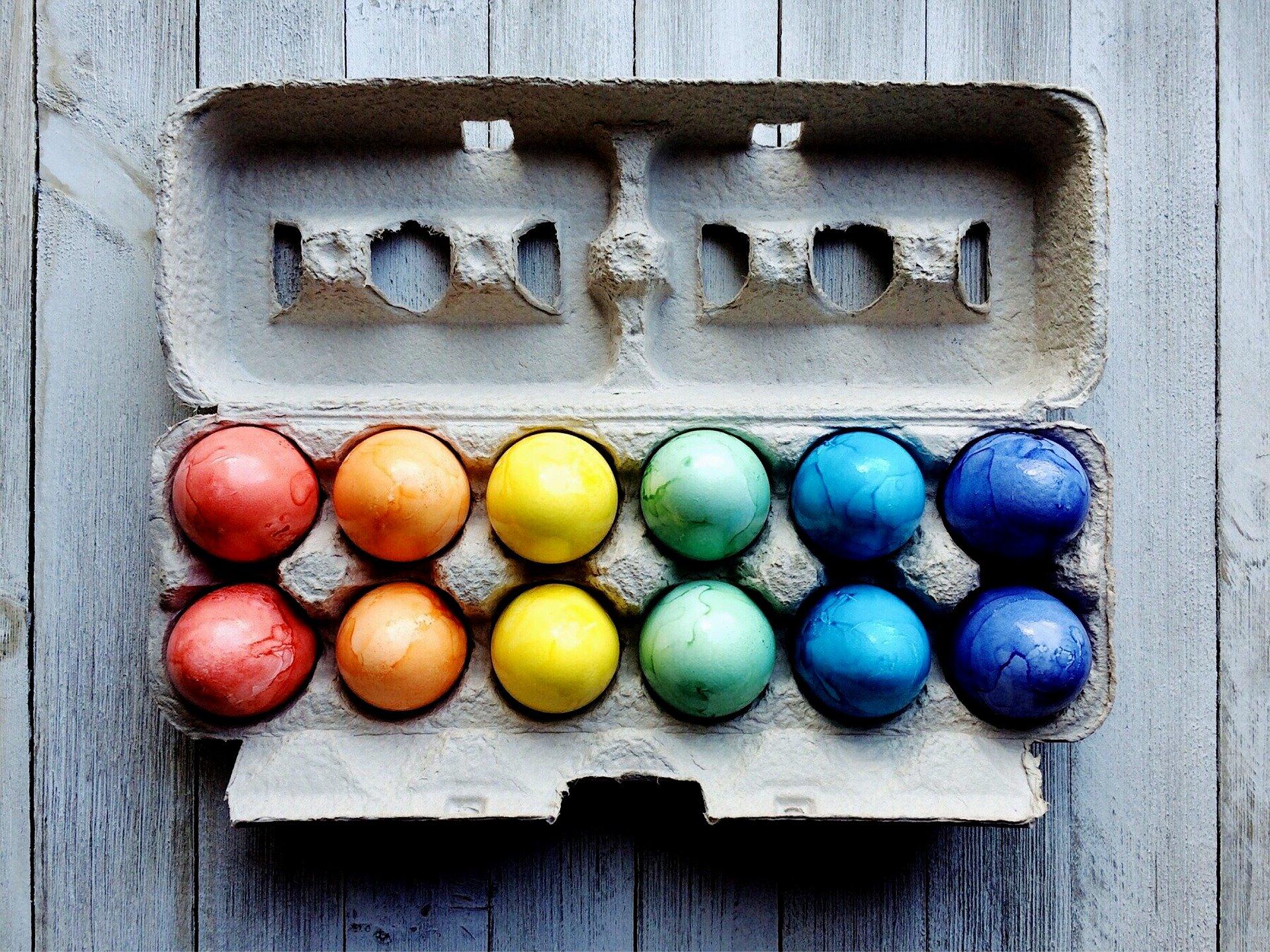 jajka jaja pisanki kolorowe jajka wielkanoc