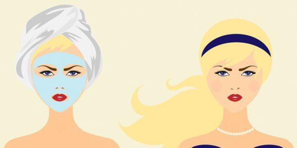 maseczka na twarz zaskórniki wągry kobieta obrazek