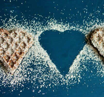głód ciasteczka ciastka wafle pierniki serce odchudzanie